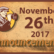 Announcements - November 26, 2017